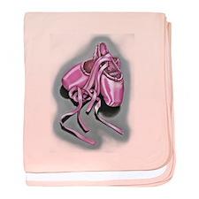 Pink Ballet Slippers Clr baby blanket