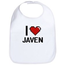 I Love Javen Bib