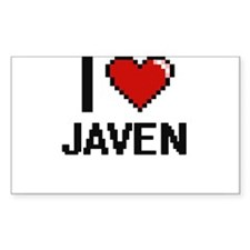 I Love Javen Decal