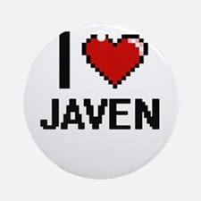 I Love Javen Ornament (Round)