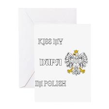 Kiss my Dupa Greeting Cards