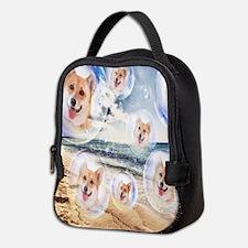 Beach Corgis Neoprene Lunch Bag