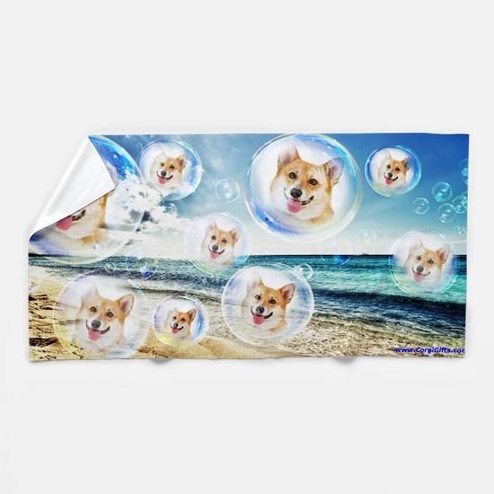 Beach Corgis Beach Towel