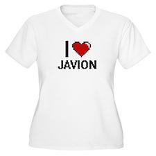 I Love Javion Plus Size T-Shirt