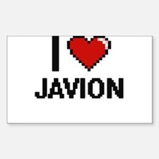 I Love Javion Decal