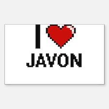 I Love Javon Decal