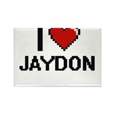 I Love Jaydon Magnets
