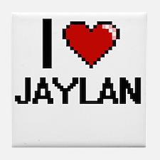 I Love Jaylan Tile Coaster