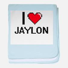 I Love Jaylon baby blanket