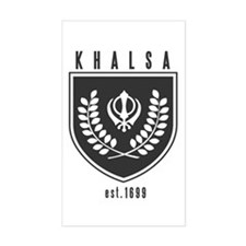 KHALSA - Rectangle Bumper Stickers