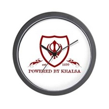 Powered by KHALSA - Wall Clock