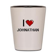 I Love Johnathan Shot Glass