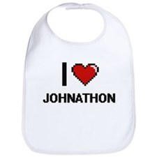 I Love Johnathon Bib
