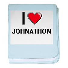 I Love Johnathon baby blanket