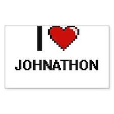 I Love Johnathon Decal
