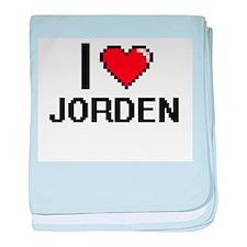 I Love Jorden baby blanket
