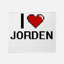 I Love Jorden Throw Blanket