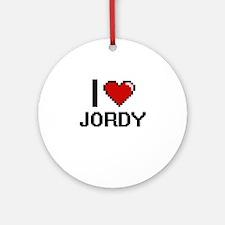 I Love Jordy Ornament (Round)