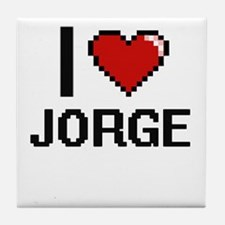 I Love Jorge Tile Coaster