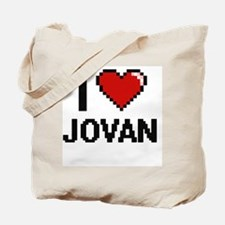 I Love Jovan Tote Bag