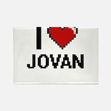 I Love Jovan Magnets