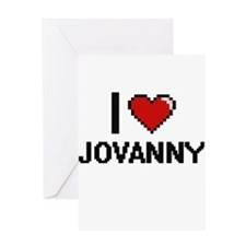 I Love Jovanny Greeting Cards