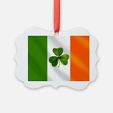 Irish Shamrock Flag Ornament