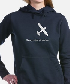 Plane Fun 140704Wh Women's Hooded Sweatshirt