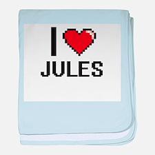 I Love Jules baby blanket