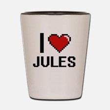 I Love Jules Shot Glass