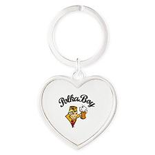 Polkaboy Mascot 1 Heart Keychain