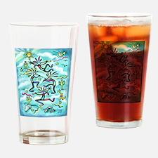 Kokopelli - Turq. Drinking Glass
