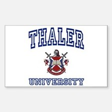 THALER University Rectangle Decal
