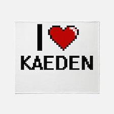 I Love Kaeden Throw Blanket