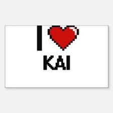 I Love Kai Decal