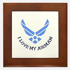 LOVE MY AIRMAN Framed Tile