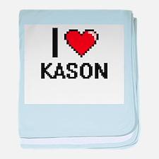 I Love Kason baby blanket