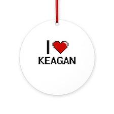 I Love Keagan Ornament (Round)