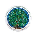 Chartres Labyrinth Button