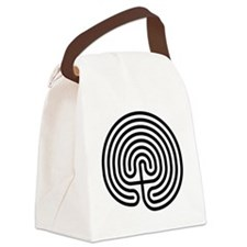 Classical Labyrinth Canvas Lunch Bag