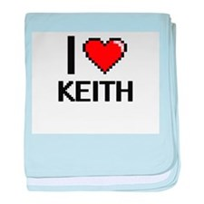 I Love Keith baby blanket