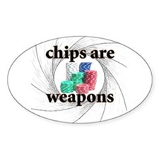 chip weapons Oval Decal