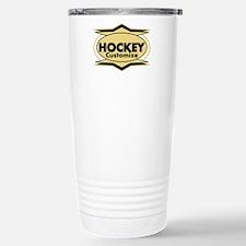 Hockey Star stylized Stainless Steel Travel Mug