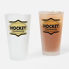 Hockey Star stylized Drinking Glass