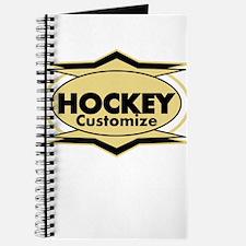 Hockey Star stylized Journal