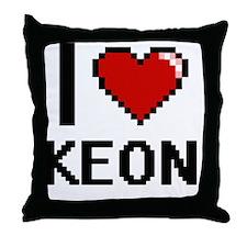 I Love Keon Throw Pillow