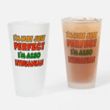 Not Just Perfect Lithuanian Drinking Glass