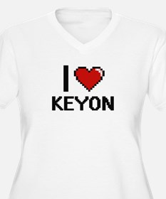 I Love Keyon Plus Size T-Shirt