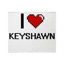 I Love Keyshawn Throw Blanket