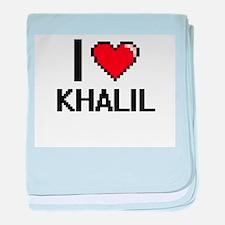 I Love Khalil baby blanket